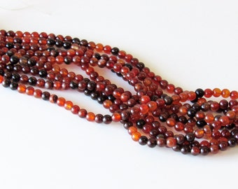"""8mm Fire Agate Beads Full Strand 16"""" Agate Round Beads Agate Gemstones Red Agate Mala Beads Prayer Beads"""