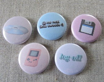 internet 5 pack pinback buttons