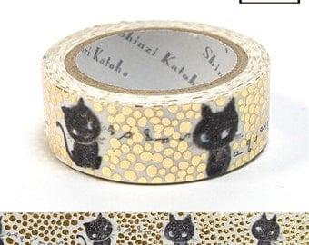 Shinzi Katoh Kirapika Golden Dots & Black Cats Metallic Tape