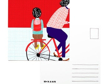 Illustration postcard - Bicycle