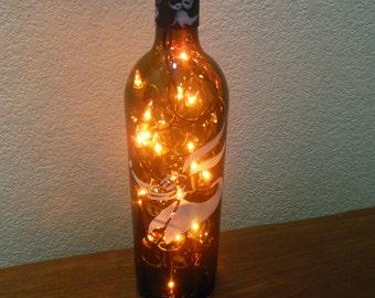 Nightmare Before Christmas Wine Bottle Light Zero  (orange lights) Halloween, Halloween Lights, Halloween Party, Night Light