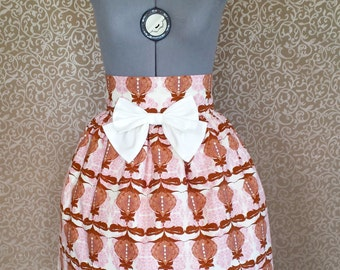 Chocolate & Strawberry Pastel Cotton Lolita Skirt