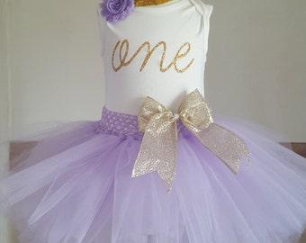 Lilac and Gold tutu set