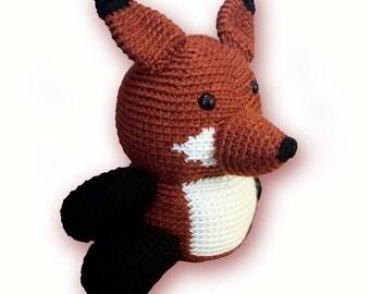 Crochet Stuffed Fox