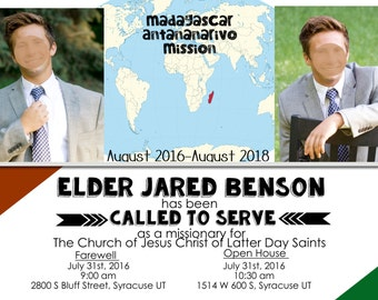 Elder Missionary Farewell Invite, LDS