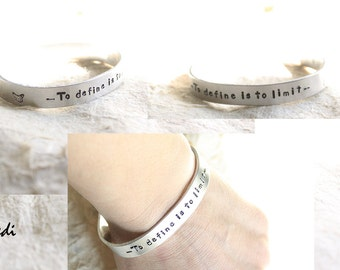 aliminium bangle / handstamped jewels / aledi /