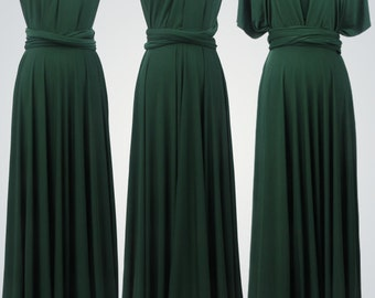 Floor-Length Bridesmaid Infinity convertible wrap dress,Green Dress,Party evening long dresses,Multiway prom dress,Long twist wrap dress