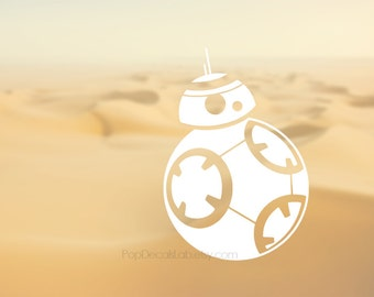 BB8 vinyl decal - BB-8 vinyl sticker - star wars decal - wall decal - car decal - macbook decal- laptop sticker - made in USA - PopDecalsLab