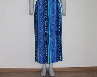 Summer Skirt Vintage Skirt Long Women Skirt Blue Skirt Maxi Summer Skirt Boho  Grunge Skirt