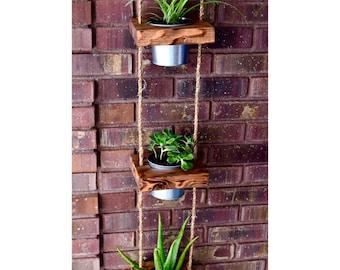 Hanging planter, indoor planter, succulent planter, vertical planter, wood planter, hanging pot garden, succulent pot, outdoor planter