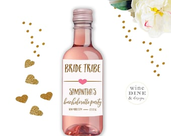 Mini Wine Labels Bachelorette Party Favor Hen Party
