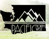 Pacific Northwest Washington Vinyl Sticker