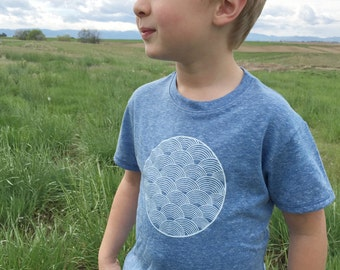 Boys and Girls Organic T-shirt - eco friendly graphic tee - sustainable - childrens organic cotton clothing - screen printed - triblend