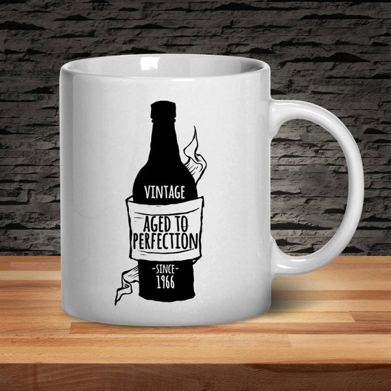 50th Birthday Mug Vintage Aged To Perfection 50th By