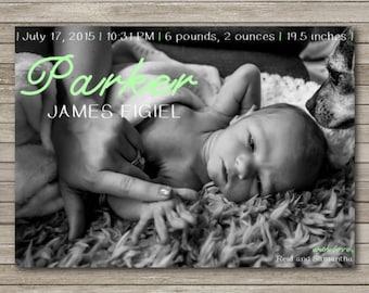 Birth Announcement 5x7 Flat Card