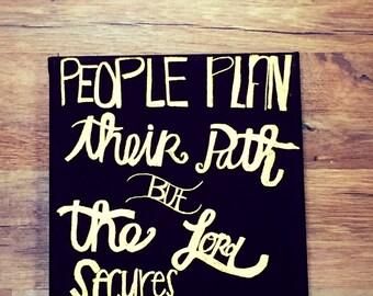Proverbs 16:9 (8x10)