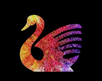 Swan Clipart, Swan Clip Art, Bird Clipart, Bird Clip Art, Geometric Clipart, Geometric Clip Art, Clipart Bird, Clip Art Bird