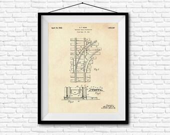 Railroad Track Construction Patent Print- 1932 - Poster Wall art Illustration Print Art Home Decor Gift Vintage Patent - SKU 0041