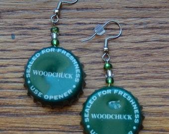 Woodchuck Cider Bottle Cap Earrings