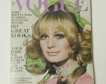 Vintage Vogue Magazine March Mar 1 1969 Irving Penn Fashion