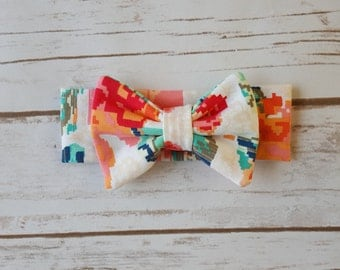 Floral Knit Bow Headband