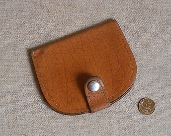 Vintage leather wallet Soviet wallet USSR Vintage leather purse Old wallet Brown purse Small purse coins Money Purse discount cards credit