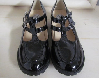 Black Patent Buckle Mary Janes Women's 6.5