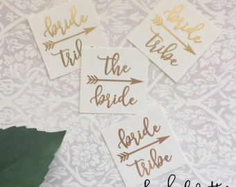 Set of 12+ Bride Tribe Gold Tattoos! Bachelorette party favors, bride tribe tattoo, bachelorette tattoo, flash tattoo, gold flash tattoo