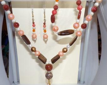 3 pc Necklace, Earring & Bracelet set