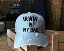 Irwin is my Bae, Ashton Irwin Baseball Cap,5 Seconds of Summer, Denim Cap, Jean Cap, Low-Profile Baseball Cap Baseball Hat