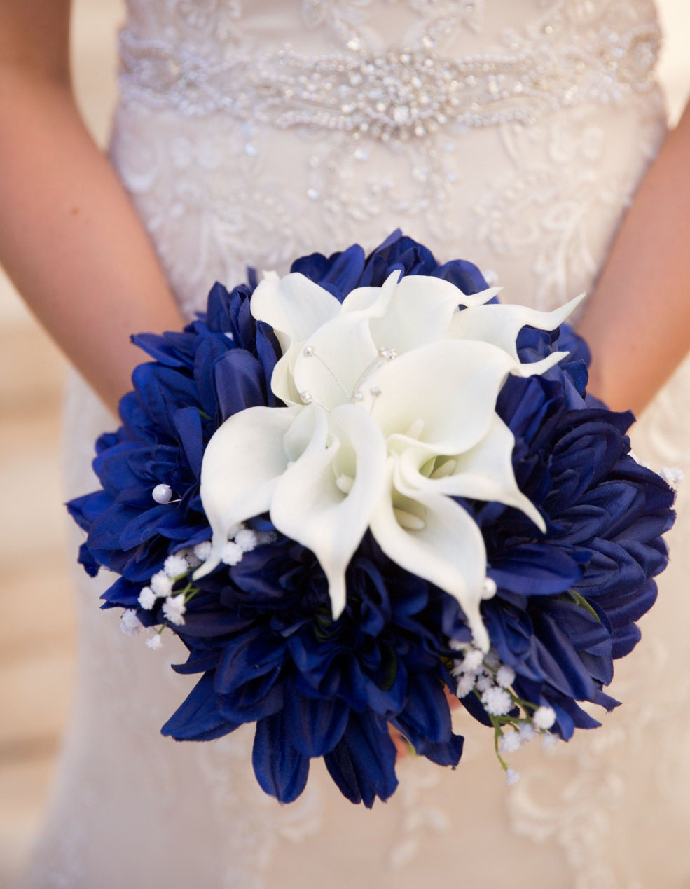 blue white bouquet nautical bouquet navy blue bouquet white. Black Bedroom Furniture Sets. Home Design Ideas