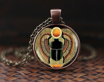 Scarab pendant, Scarab jewelry, ancient egypt jewelry, Egyptian jewelry, Scarab Necklace, Egyptian Scarab, men's necklace