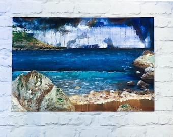 Greek Island Oil Painting