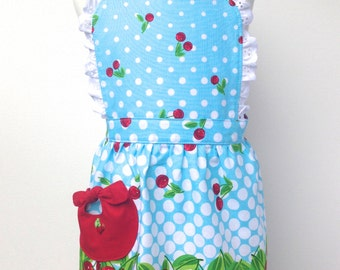 Kid's Apron Vintage Style Cherries