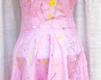Banana Moon REWORKED Vintage Sun Dress w/ CROCHETED BOTTOM Fringe DRS158BMD110