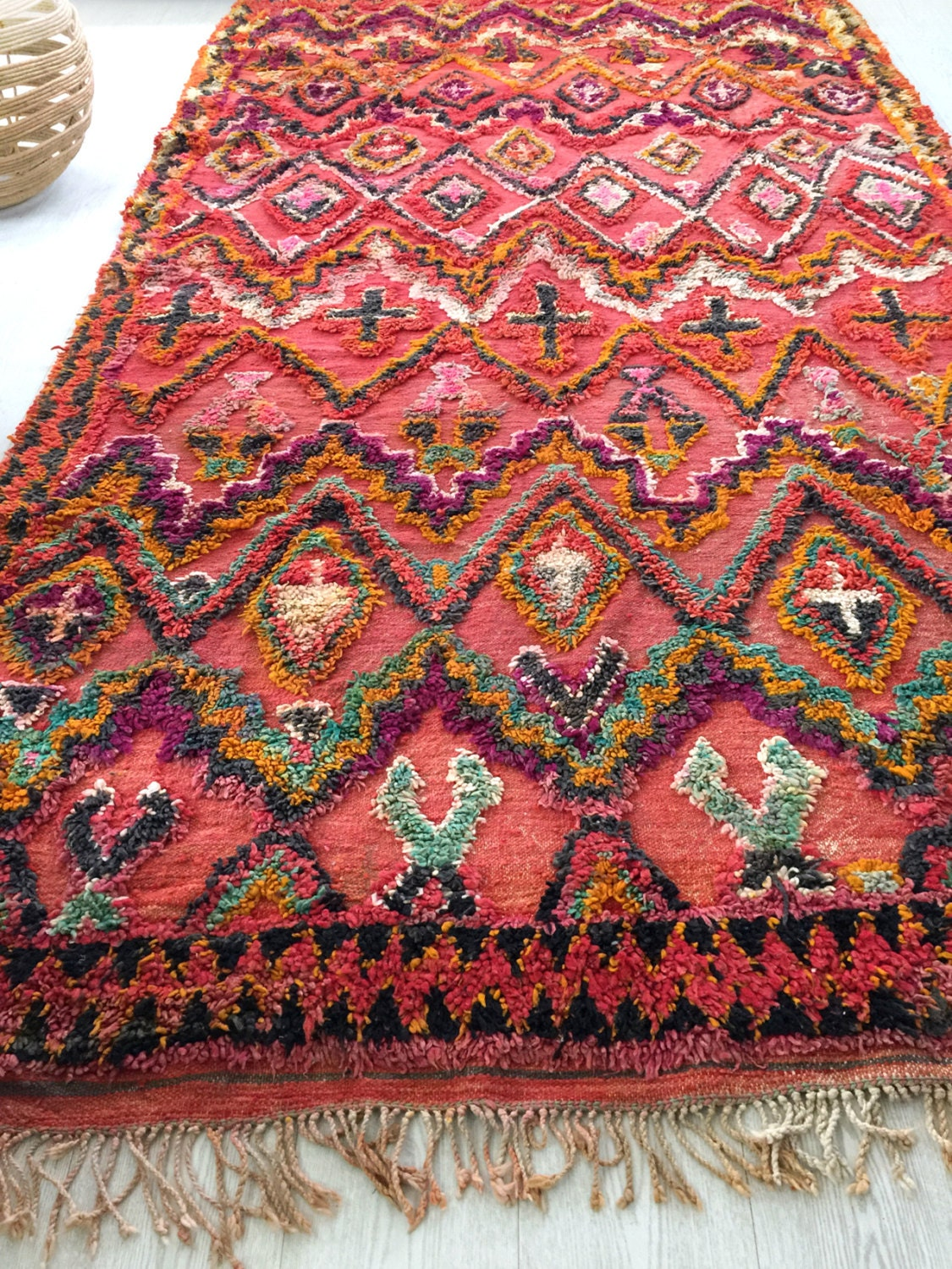 Reserved For Elizabeth 50 Years Old Large Moroccan Rug