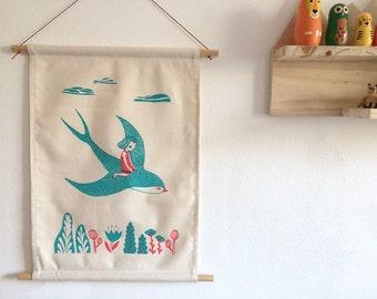 Thumbelina Wall hanging Silkscreen