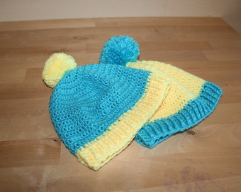 Crocheted hat for 1.5-2 years old baby. Free shipping!