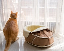 Unique Designer Cat Bed (Small) for Small Pets, Cat Furniture, Pet Bed, Gifts for Pet Lover, Pet Products, Modern Pet Furniture, Gifts