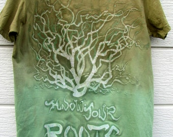 """Batik HandMade T-Shirts """"Know your Roots"""""""