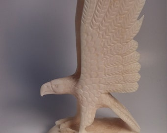 Alaskan Native hand carved Ivory Egale