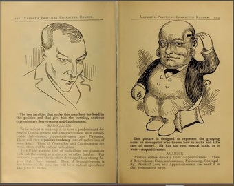 Vaught's Practical Character Reader, 1902, a study of Phrenology, character reading and human nature. Digital ebook pdf edition.