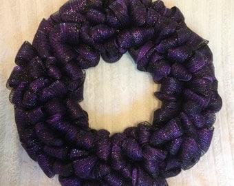 SALE! Black/Purple Wreath - large