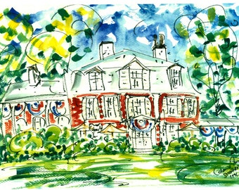 CONCORD COLONIAL INN by Jane Staffier**Colonial Inn**Concord Ma*Watercolor*July Fourth Art*Concord Ma*Greeting cards*Historic Concord