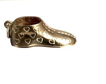 Heart Engraved High Top Sneaker Charm/Pendant