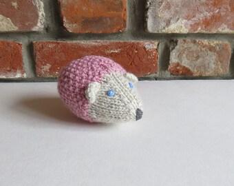 Soft Pink Hand Knitted Hedgehog