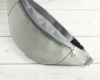 Hip sack – linen (grey)