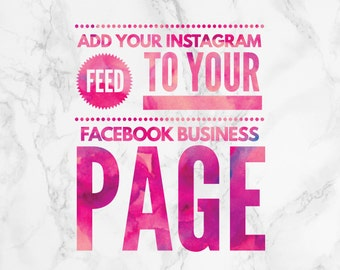 Add Your Instagram Feed to your Facebook Business Page