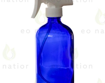 Large 16 oz Cobalt Glass Spray Bottle
