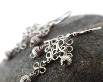 Sterling silver earrings silver 925 lozenge